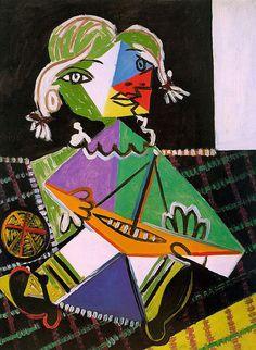 パブロ・ピカソ「おもちゃの舟を持つ少女(マヤ・ピカソ)」 - 山田視覚芸術研究室 / シュルレアリスムとアヴァンギャルド