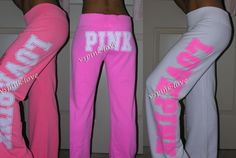 LOVE love LOVE pink sweats in the middle