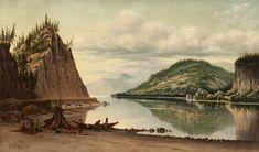 Lake Scene with Teepee, Grafton Tyler Brown