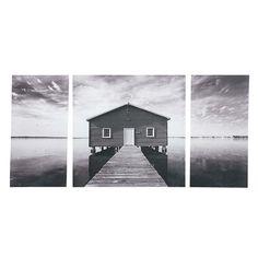 Triptychon LAC OAK, 80 x 160cm, grau