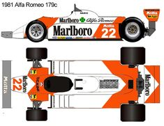 1981 Alfa Romeo 179c formula 1 Blueprint Drawing, Car Drawings, Alfa Romeo, F1, Race Cars, Slot, Racing, War, Cars