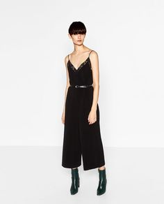 Image 1 of LONG CAMISOLE JUMPSUIT from Zara