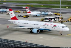 """OE-LBE """"Wachau"""" taxiing out to runway 29 while a storm is gathering above VIE on this warm summer afternoon. - Photo taken at Vienna - Schwechat (VIE / LOWW) in Austria on August Austrian Airlines, Air Lines, Aircraft Pictures, Spacecraft, Military Aircraft, Planes, Aviation, Wings, Photos"""