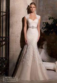 Wedding Gowns by Morilee featuring Majestic Embroidery Design on Net Trimmed with Diamante Beading Available in White/Silver, Ivory/Silver, Light Gold/Silver