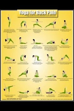 Yoga poses for back pain.