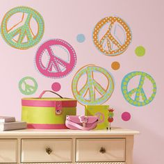 Room+Mates+Studio+Designs+Peace+Signs+Wall+Decal