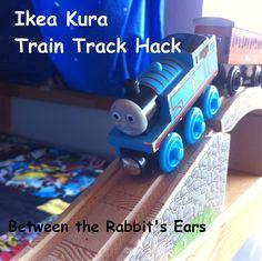Between the Rabbit's Ears: DIY: Ikea Kura Train Track Hack