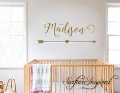 Name decal for girl nursery
