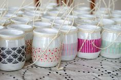 Washi Tape Diy, Masking Tape, Diy Cristals, Diy Projects Easter, Crafts To Make, Arts And Crafts, Modern Stained Glass, Pots, Yogurt