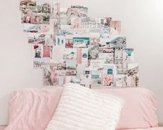 Hello Darling Dorm Collage Kit Photo Wall College Decor Pink Collage Kit Set of 50 Prints Pastel Walls, Pastel Art, Pastel Pink, Collage Dorm Room, Pastel Home Decor, Pastel House, Photo Wall Collage, Photo Collages, Teen Room Decor