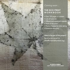We are working to bring to you a fantastic Eco Print workbook, this will be filled with lots of tutorials, different techniques and materials, plenty of space for note taking, an extensive directory and more ... Are you an eco printer and want to be part of this project? Get in touch info@noserialnumber.org #noserialnumber #worksbook #project #ecoprint #ecoprinting #naturalcolours #artists #textileart #art #textiles #botanicalcolours #colours #tutorials