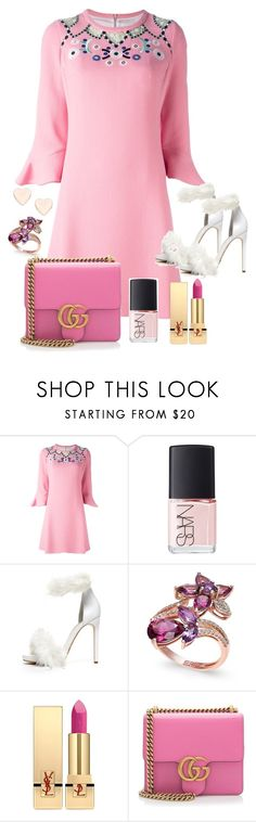 """Chá de baby da Alicia"" by amanda-elpidio on Polyvore featuring moda, Peter Pilotto, NARS Cosmetics, Jeffrey Campbell, Effy Jewelry, Yves Saint Laurent, Gucci e Ted Baker"