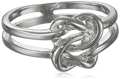 Sterling Silver Double Love Knot Ring Size 7 * See this great product.
