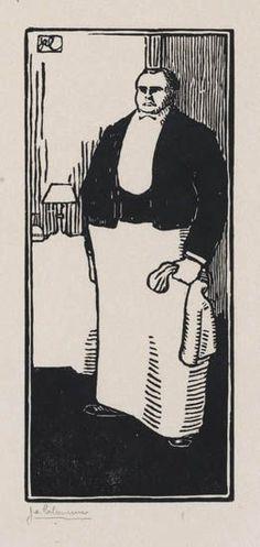 JEAN-ÉMILE LABOUREUR Le Garçon de Restaurant Américain. 1904-09