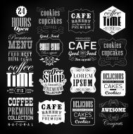 Set Of Vintage Retro Coffee