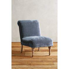 Slub Velvet Seraphine Chair ($898) via Polyvore featuring home, furniture, chairs, sky, velvet furniture and velvet chair