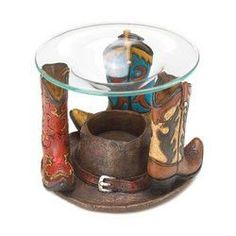 Cowboy Boots Oil Warmer (pack of 1 EA)