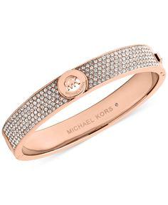 Michael Kors Crystal Pave Logo Bangle Bracelet