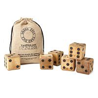YARD DICE|UncommonGoods  Yard dominoes also available....what about yard scrabble?!