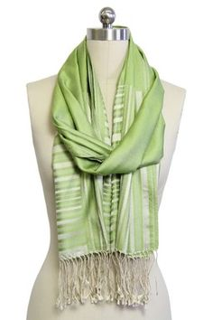 HauteLook | Saachi Scarves: Lightweight Silk Scarf - Lime Green