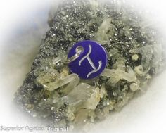 Letter I Hand Engraved Purple Personalized Small by superioragates, $4.00