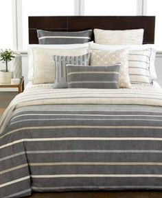 Hotel Collection Modern Colonnade Queen Duvet Cover - Bedding Collections - Bed & Bath - Macy's