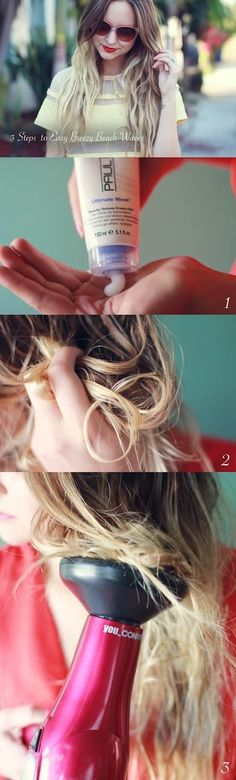 It's a super-easy and fast method to get simple waves with no flat iron or rollers.