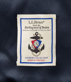 L.L.Bean Authentic Wool Peacoat made by Sterlingwear of Boston - official supplier to the U.S. Navy. #USA