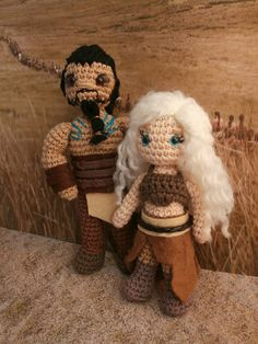 Khal Drogo and Khaleesi. Game of thrones amigurumi. Moñacos, cosicas y meriendacenas