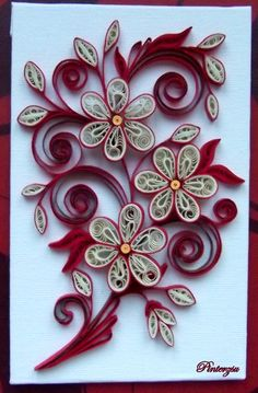 Quilled flowers.
