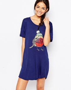 57d3781f2faf Shop Chelsea Peers Robin Nightie Christmas Gift Box at ASOS.