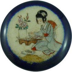 Very Special Antique Satsuma Button
