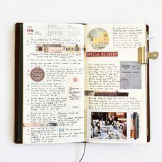 Week 23 in my Midori. Smash Book, Journal Notebook, Journal Pages, Notebook Doodles, Bullet Journal Travel, Travel Journals, Bullet Journals, Art Journals, Filofax