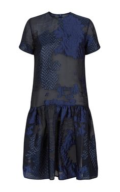Fern Dropped Waist Textured Dress by MALENE ODDERSHEDE BACH for Preorder on Moda Operandi
