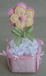 Mini torta de pañales.