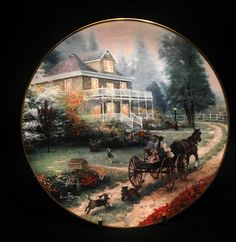 1992 Knowles A Carriage Ride Home by Thomas Kinkade 3rd Issue