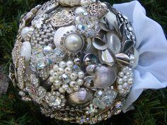 costume jewelry wedding bouquet