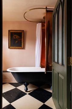 Dream Bathrooms, Beautiful Bathrooms, Modern Bathroom, Bathroom Inspiration, Home Decor Inspiration, Bathroom Ideas, Bathroom Inspo, Soho Hotel, Victorian Bathroom