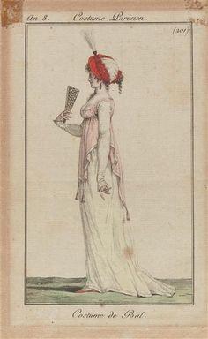 Ballgown, 1801 France, Journal des Dames et des Modes