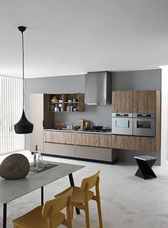 Descarga el catálogo y solicita al fabricante Ariel - composition 3 By cesar arredamenti, cocina integral lineal diseño Gian Vittorio Plazzogna, Colección ariel