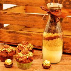 Ferrero Rocher Muffins - auch als Backmischung im Glas