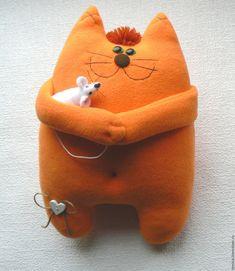 Купить Кот и Мышь - оранжевый, кот, котики, кот и мышь, оригинальный подарок, Кошки