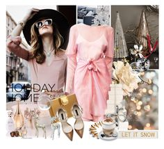 """""""LET IT SNOW"""" by mercanici ❤ liked on Polyvore featuring DwellStudio, H&M, Her Curious Nature, Giorgio Armani, Christian Dior, Pottery Barn, Lanvin, Zara, Aroma and Christofle"""