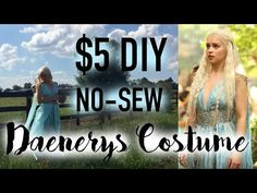 $5 DIY Daenerys Qarth Dress / Game of Thrones Cosplay Costume - YouTube