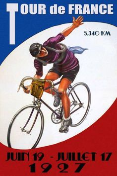 Tour de France 1927 Bicycle Cycle Race French 20x30 Vintage Poster Repro FREE SH #Vintage