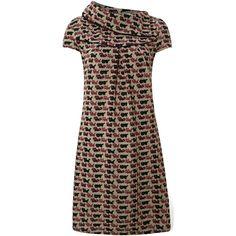 Pussycat Cat Print Knit Tunic Dress ($40) ❤ liked on Polyvore
