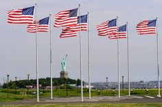 Liberty State Park Hours | Liberty State Park in Jersey City (Flags and the Statue of Liberty ...