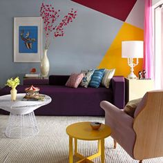 30 Paredes com pinturas geométricas para você se inspirar | chataspradecorar.com.br