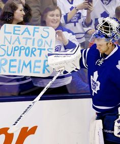 """Leafs Nation Supports Reimer """" Photos of James Reimer """" Hockey Rules, Hockey Mom, James Reimer, Maple Leafs Hockey, Love My Boys, Toronto Blue Jays, Toronto Maple Leafs, Home Team, Montreal Canadiens"""