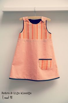 DIY - sew - retro little girl dress Frocks For Girls, Little Girl Dresses, Girls Dresses, Toddler Dress, Baby Dress, Toddler Girl, Kids Outfits Girls, Girl Outfits, Kids Party Wear